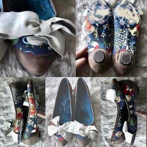 IRREGULAR CHOICE cute AF kitten heels/semi-flats 8